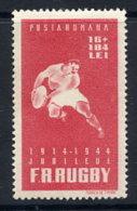 ROMANIA 1944 Rugby Association Anniversary MNH / **. Michel 792 - 1918-1948 Ferdinand, Charles II & Michael