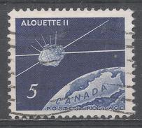 Canada 1966, Scott #445 Satellite Alouette II Orbiting Globe (U) - 1952-.... Règne D'Elizabeth II