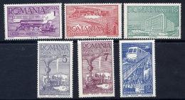 ROMANIA 1939 Railway Anniversary Set  MNH / **.  Michel 609-14 - 1918-1948 Ferdinand, Charles II & Michael