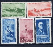 . ROMANIA 1938 Grigorescu Centenary Set  MNH / **.  Michel 564-68 - 1918-1948 Ferdinand, Charles II & Michael