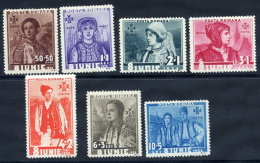 ROMANIA 1936 6th Anniversary Of Accession Set  MNH / **.  Michel 509-15 - 1918-1948 Ferdinand, Charles II & Michael