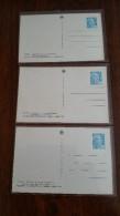 3 DOCUMENTS FRANCE ENTIER POSTAL MARIANNE DE GANDON 8 Francs EXPOSITION PARIS 1950 AUTOMNE ETE PRINTEMPS/FREE SHIPPING R - Non Classificati