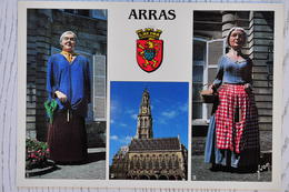 CPM ARRAS (62 - Pas De Calais) - Les Géants D'Arras, Le Beffroi - Arras