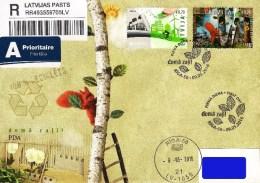 Latvia Lettland Lettonie 2016 (07) Europa - Think Green (addressed FDC) - Lettonia