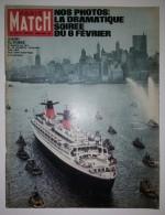 Paris Match N° 671 17/02/1962 Paquebot France - Chamonix : Ski, Bozon - Jayne Mansfield - Ingrid Bergman - Informations Générales