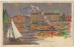 Geneve Fete De Nuit Hotel Des Bergues , De Russie Edit Manufacture De Feux D' Artifice Fireworks Pyrotechnie - GE Geneva