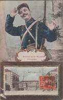 40-MONT-DE-MARSAN-Carte Fantaisie Souvenir Du 34e Régiment D'Infanterie...1910 - Mont De Marsan