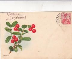 CP 1911 LAUSANNE CONFITURES DE LENZBOURG  AFFRANCHISSEMENT AU VERSO  / 7657 - Non Classés