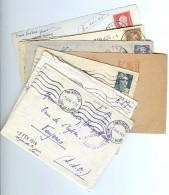 LBR22B - ARCHIVE FAMILIAL DE 11 LETTRES ET CARTES POSTALES ANNEES 1940/50 - Stamps