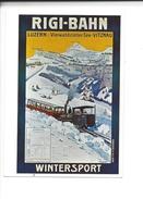 15128-   Rigi-Bahn Wintersport Luzern Vitznau 1913 Train  (Reproduction D'affiche Format 10X15) - LU Lucerne