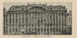 BRUXELLES  MAISON DES  CORPORATIONS    7X14    (NUOVA  ) - Non Classificati
