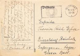 POSTKARTE 1943-BESTER UNFALLSCHUTZ,DUISBURG - Allemagne