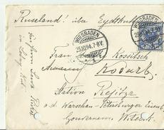 DR CV1894 WIESBADEN BANHPOST? WARSCHAU-PETERSBURG - Briefe U. Dokumente