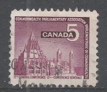 Canada 1966, Scott #450 Parliamentary Library, Ottawa (U) - 1952-.... Règne D'Elizabeth II