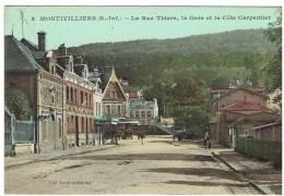 CPA - 76 - MONTIVILLIERS - La Rue Thiers, La Gare Et La Côte Carpentier  - Couleurs - - Montivilliers