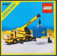 INSTRUCTION MANUAL - LEGO - 6361 - Original Lego 1986 - Vintage - Catalogues