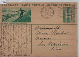 1935 Carte Postale Nr. 112/27 Kurort Degersheim (Toggenburg) Cachet: Thun - Wintersport - Entiers Postaux