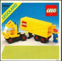 LEGO - 6692 INSTRUCTION MANUAL - Original Lego 1982 - Vintage - Catalogs