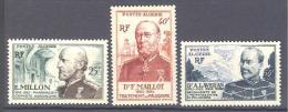 Algerie: Yvert N°304/6**; Medecine Militaire; Cote 15.50€ - Algeria (1924-1962)