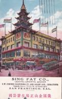 Sing Fat Company Oriental Bazaar Chinatown San Francisco California 1922 - Shops