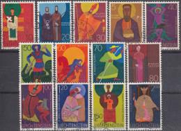 Liechtenstein 1967/71 Nº 434/45 Usado - Gebraucht