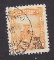 Colombia, Scott #C208, Used, Scene Of Colombia Overprinted, Issued 1951 - Colombie