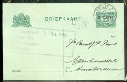HANDGESCHREVEN BRIEFKAART VOORDRUK NVPH 55 Van ZWOLLE Naar AMSTERDAM (10476d) - Postal Stationery