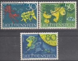 Liechtenstein 1968 Nº 447/49 Usado - Gebraucht