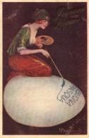 Femme Et Oeuf - Illustrateur Italien ? - Illustrateurs & Photographes