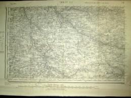 """Carte """"CHOLET"""" Maine Et Loire Mauges France IGN (Service Geographique De L´Armée) 1947 ! - Cartes Topographiques"""