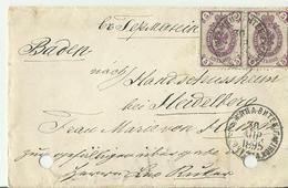 RUSLAND CV 1895 NACH BADEN - 1857-1916 Empire