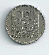 France Lot De 2 Pièces 10 Francs Turin 1934 Et 1948 - France