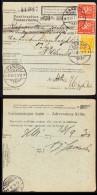 Finland Parcel Card (1930) Postmarked Kannus On Front And Helsinki On Back - Finlande
