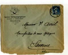 - FRANCE 1921/30 . AFFRANCHISSEMENT SIMPLE SUR LETTRE DE 1928 AVEC N°140 Y&T . - Photographica