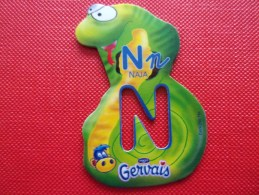 Magnet Danone  Gervais Naja Lettre N - Letters & Digits