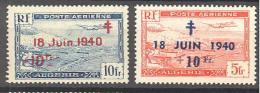 Algerie: Yvert N°A 7/8*; Cote 3.50€ - Algérie (1924-1962)