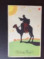 AK  Weihnachten Reiter Auf Einem Kamel Und  SONNEN ,Silhouette   ANSICHTSKARTEN 1942 - Silhouettes