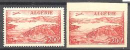 Algerie: Yvert N°A 14*-14a*; Dentelé Et Non Dentelé; Cote 32.50€ - Algérie (1924-1962)