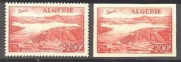 Algerie: Yvert N°A 14**-14a**; MNH; Dentelé Et Non Dentelé; Cote 37.35€ - Algérie (1924-1962)