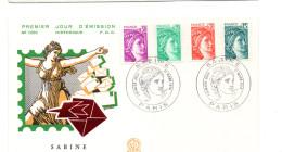 FDC France  Sabine De Gandon    Y.T. N° 1969, 1967, 1968,1966    75  Paris - 1970-1979