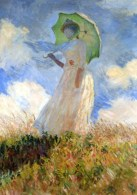 French Artist Claude Monet Art Postcard Pretty Woman With Umbrella Cloudy Sky - 12727 - Peintures & Tableaux
