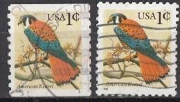 A1841 Stati Uniti 1996 Uccelli Birds American Kestrel Gheppio Falco Type A1841 Viaggiati Used USA  United States - Arends & Roofvogels