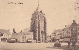 Wavre - L'Eglise (animée, Automobile, Edition Junion-Dresse, Timbre Orval 1929) - Waver