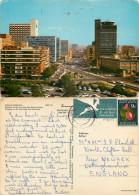 Jan Smuts Avenue, Johannesburg, South Africa Postcard Posted 1973 Stamp - Südafrika