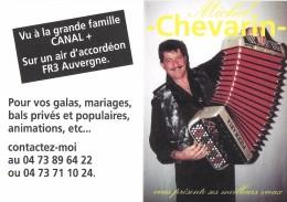CALENDRIER 1998 ACCORDEONISTE MICHEL CHEVARIN MEILLEURS VOEUX - Calendarios
