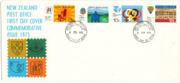 New Zealand FDC 5-2-1975 Anniversaries Complete Set Of 4 With Cachet - FDC