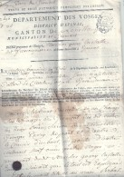 VOSGES - 88 - GIRMONT - Canton De Loncham Près D'Epinal  Acte De Vente D'un Bien D'émigrès Durant La Révolutions  4 Page - Affiches