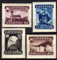 SLOWAKEI 1943 - MiNr: 124-127 Komplett    ** / MNH - Ungebraucht