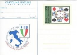 FIB - Bridge-Federazione Italiana Bridge. Cartolina Postale. Stationery.  A-476 - Giochi