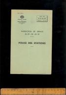RATP : Services D'exploitation Réseau Ferré Métro : Instruction De Service Police Des Stations 1953 - Transportation Tickets